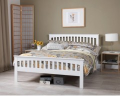 Adele 6ft White Bed Frame