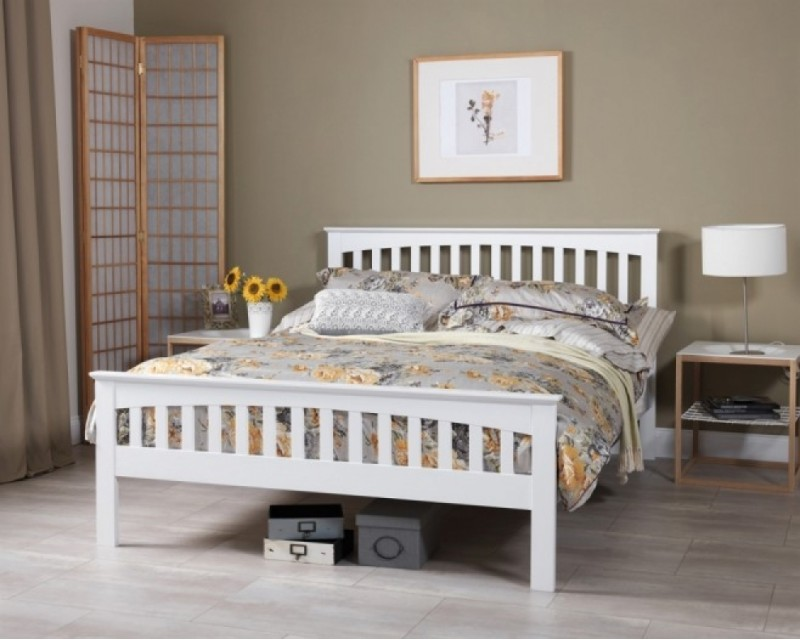Adele 4ft White Bed Frame