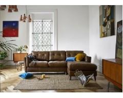 Saddler Leather Chaise Sofa