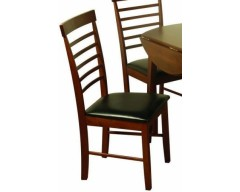 Hampton Solid Hardwood Dark Chair (Assembled)