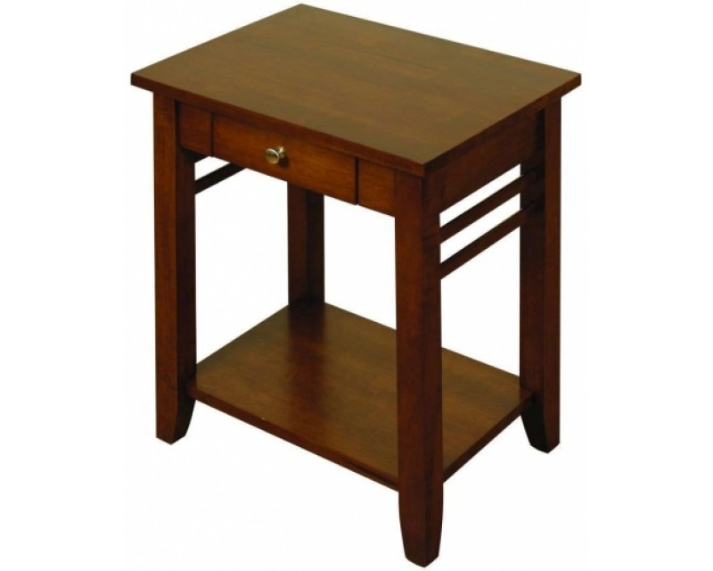 Hampton Solid Hardwood Dark End Table