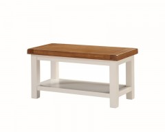 Henley Painted Oak Small Coffee Table with Shelf