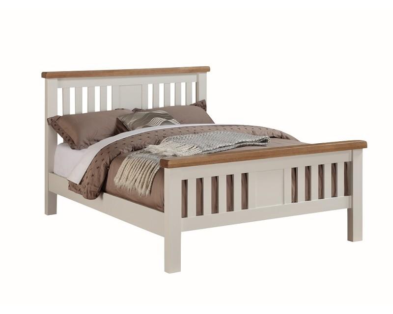 henley solid oak 4ft6 bed frame - Oak Bed Frame