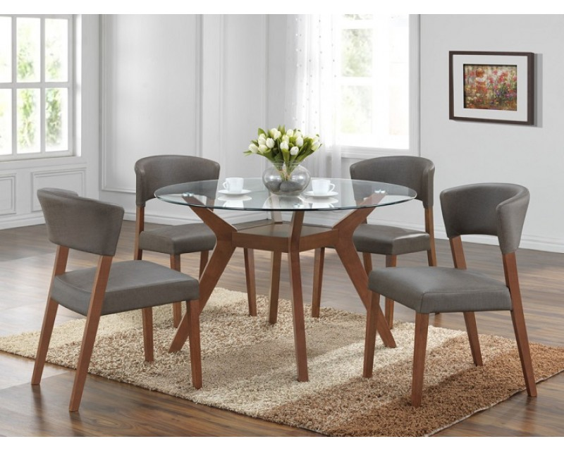 Hton Gl Dining Table 6 Chairs