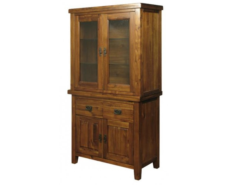Rushton Acacia Wood 2 Door Buffet Hutch