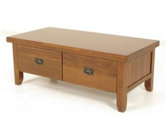 Rushton Acacia Wood Coffee Table With Drawers