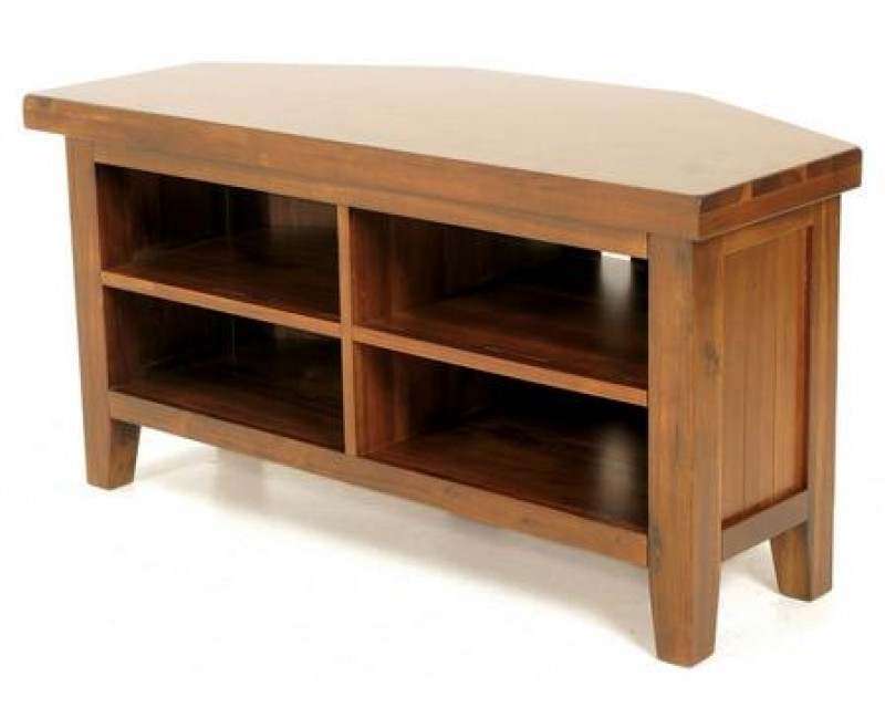 Rushton Acacia Wood Corner TV Unit