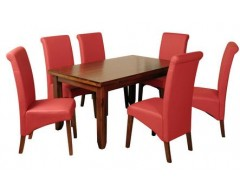 Rushton Acacia Wood Parsons Dining Set