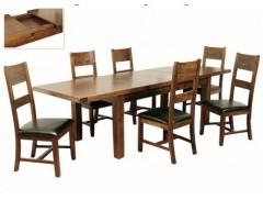 Rushton Acacia Wood Large Extending Dining Set