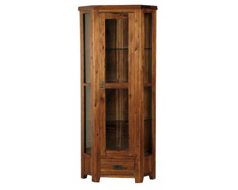 Rushton Acacia Wood Display Cabinet