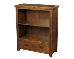 Rushton Acacia Wood Low Bookcase