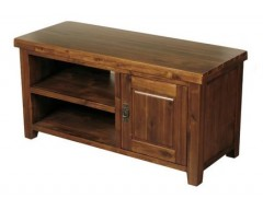 Rushton Acacia Wood 1 Door Display TV Cabinet