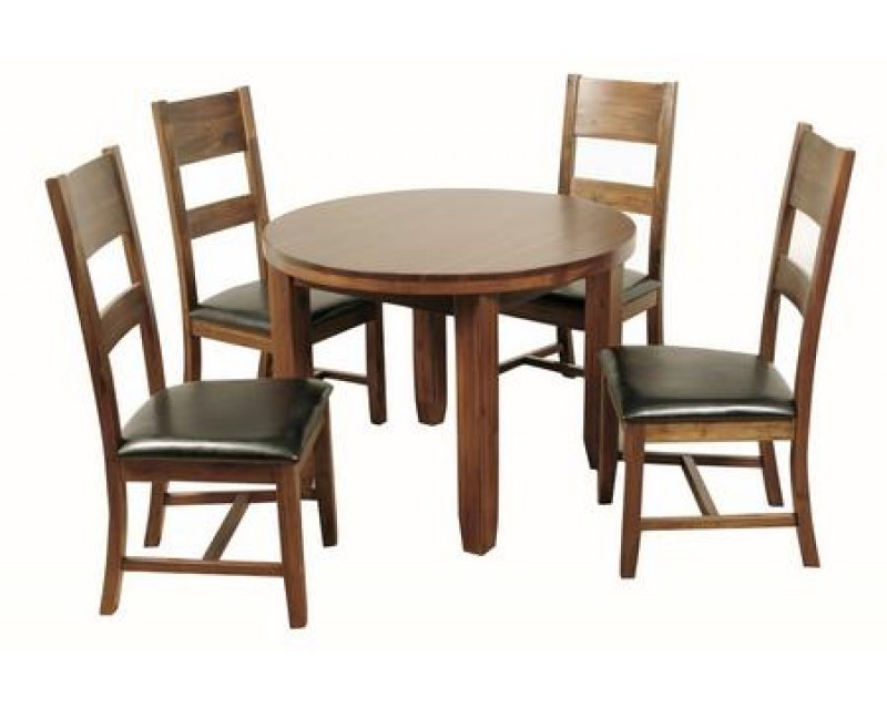 Rushton Acacia Wood Round Dining Set