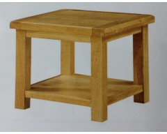 Sussex Oak End Table With Shelf