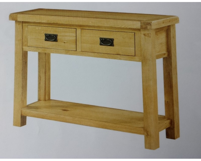 Sussex Oak Large Hall Table with Drawers