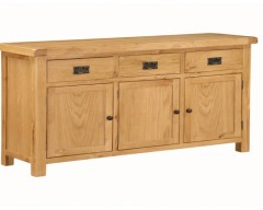 Sussex Oak 3 Door Sideboard
