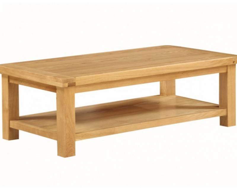 Sussex Oak Large Coffee Table With Shelf