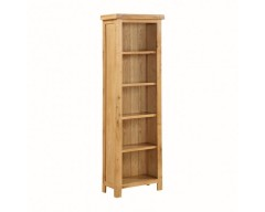 Sussex Oak Tall Slim Bookcase