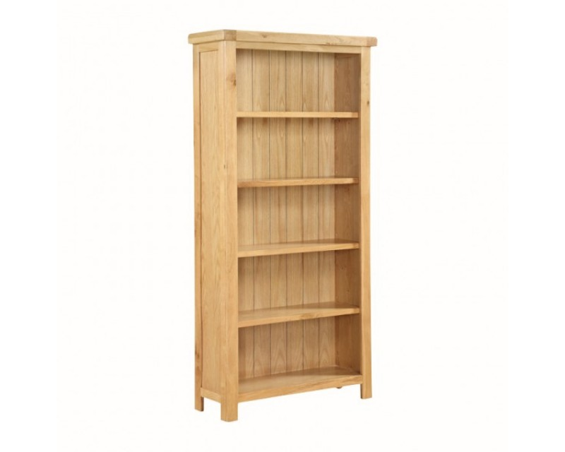 Sussex Oak Tall Wide Bookcase