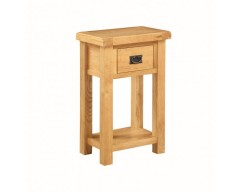 Sussex Oak Telephone Stand With Drawer