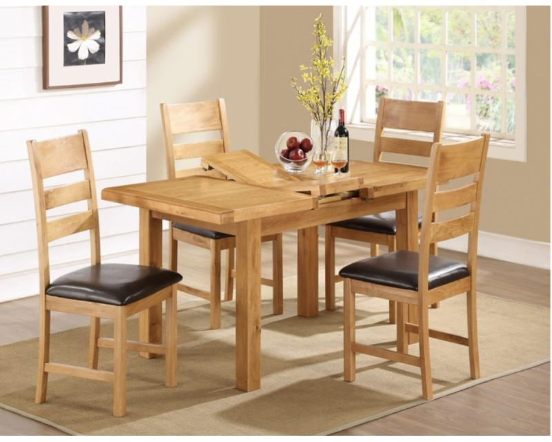 Sussex Oak Large Extending Dining Set