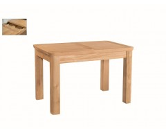 Tamworth Solid Oak / Oak Veneer 4' extension dining table (Extended) - Standard