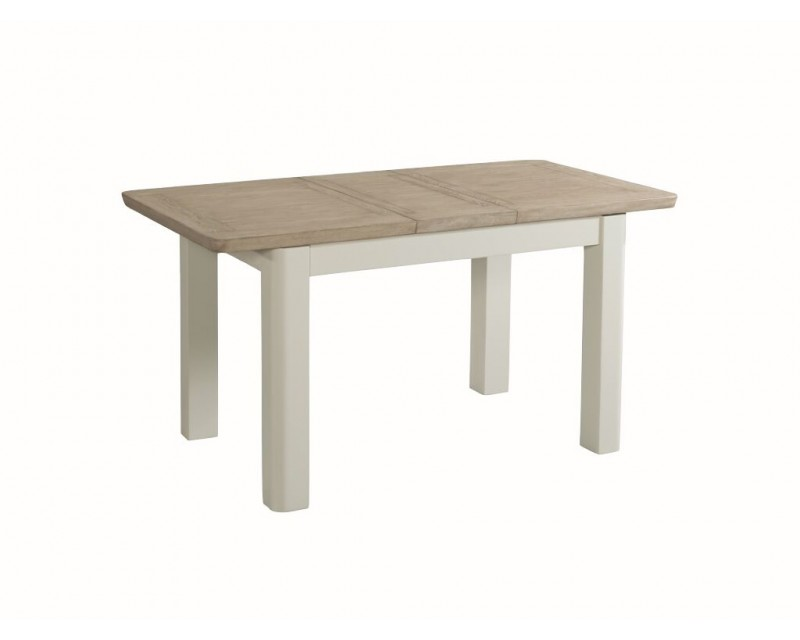 Tamworth Solid Oak / Oak Veneer 4' extension dining table (Extended) - Painted