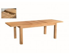 Tamworth Solid Oak / Oak Veneer 6' extension dining table (Extended) - Standard