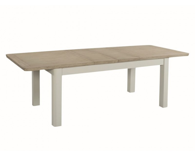 Tamworth Solid Oak / Oak Veneer 6' extension dining table (Extended) - Painted