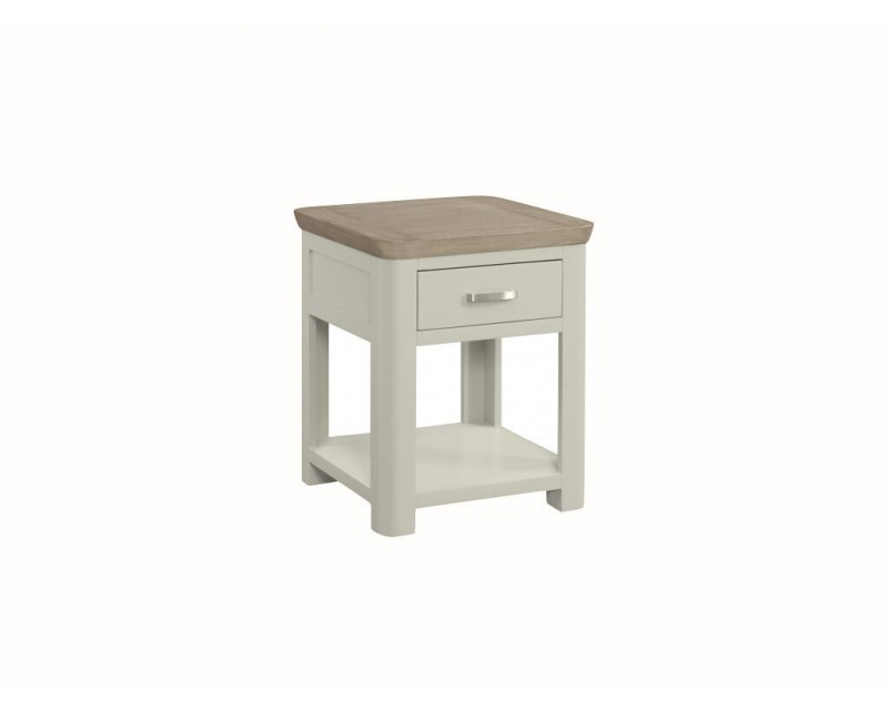 Tamworth Solid Oak / Oak Veneer End Table With Drawer - Painted
