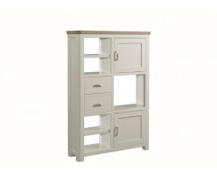 Tamworth Solid Oak / Oak Veneer High Display Unit - Painted