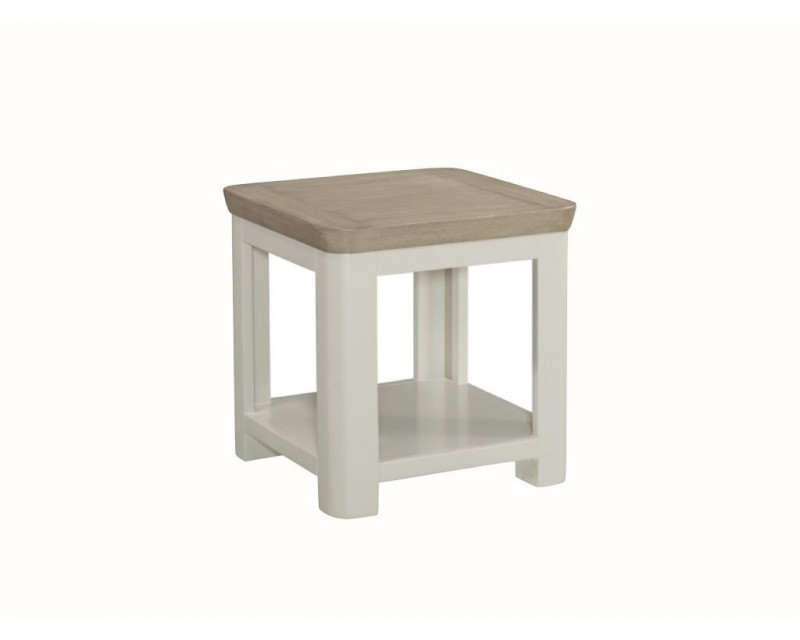 Tamworth Solid Oak / Oak Veneer Lamp Table - Painted