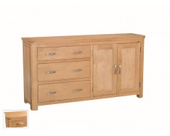 Tamworth Solid Oak / Oak Veneer Large Sideboard- Standard