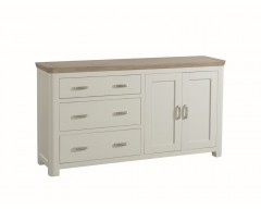 Tamworth Solid Oak / Oak Veneer Large Sideboard- Painted