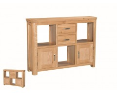 Tamworth Solid Oak / Oak Veneer Low Display Unit - Standard