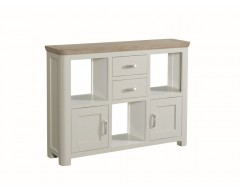Tamworth Solid Oak / Oak Veneer Low Display Unit - Painted