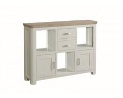Tamworth Solid Oak / Oak Veneer Low Display Unit - Painted