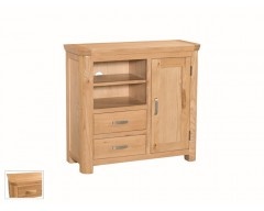 Tamworth Solid Oak / Oak Veneer Media Unit - Standard