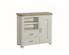 Tamworth Solid Oak / Oak Veneer Media Unit - Painted