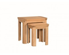 Tamworth Solid Oak / Oak Veneer Nest of 2 Tables - Standard