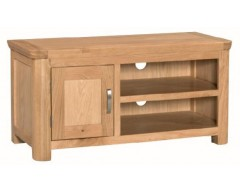 Tamworth Solid Oak / Oak Veneer Standard TV Unit - Standard
