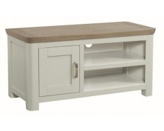 Tamworth Solid Oak / Oak Veneer Standard TV Unit - Painted