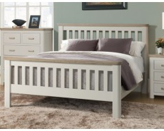 Tamworth Solid Oak / Oak Veneer 3ft Bed Frame