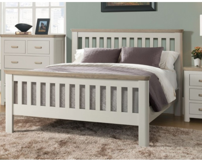 Tamworth Solid Oak / Oak Veneer 3ft Bed Frame