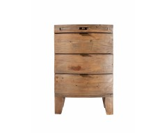 Bahamas 3 Drawer Bedside Chest