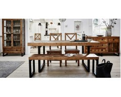 Nassau Extending 140cm - 180cm Dining Table - Solid Reclaimed Wood