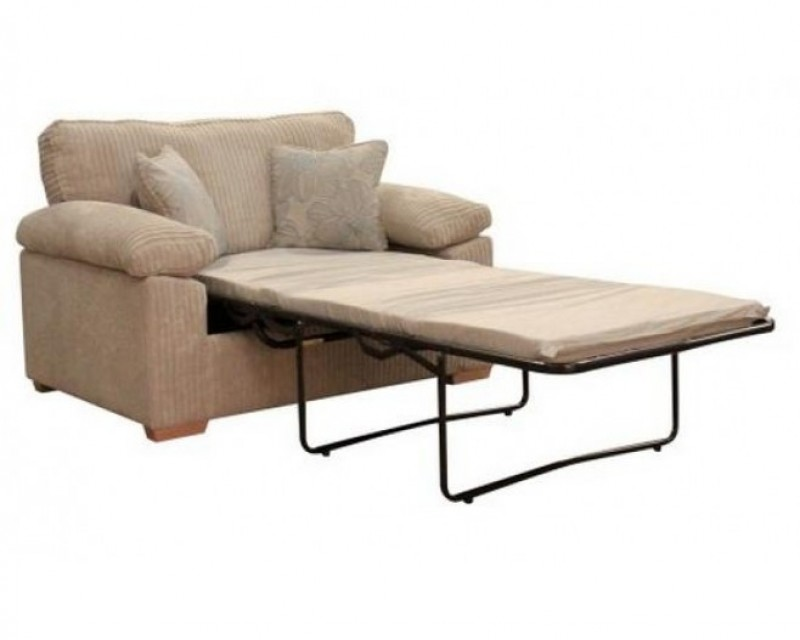 Sasha Upholstered Sofa Bed - Any Colour - 80cm Mattress