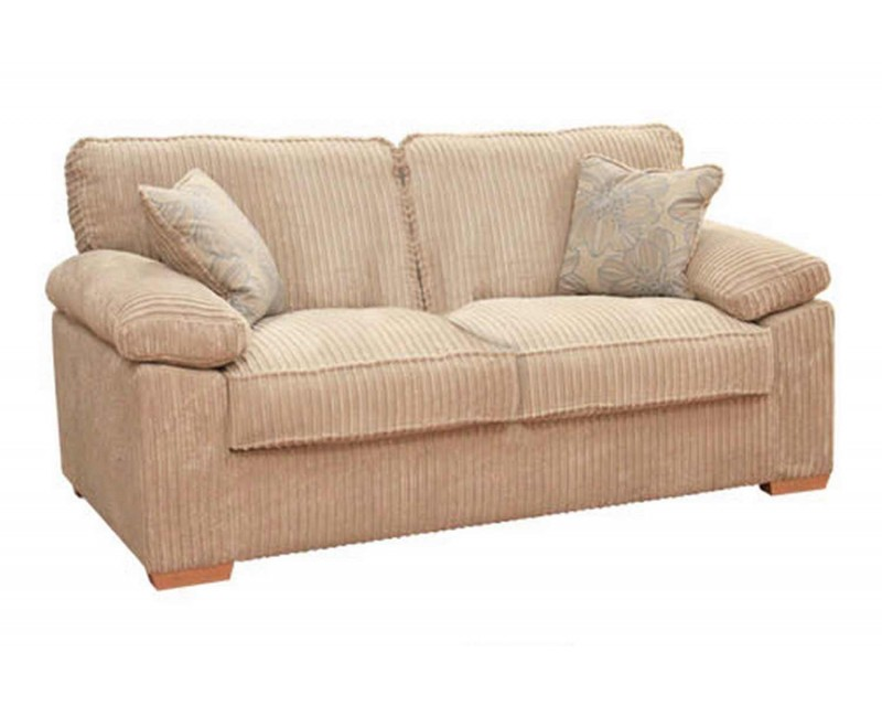 Sasha Upholstered 3 Seater Sofa Bed - Any Colour - 140cm Mattress