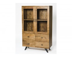 Ascot 2 Doors 4 Drawers Display Cabinet