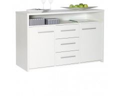 Dante 3 Drawer 2 Door Sideboard White